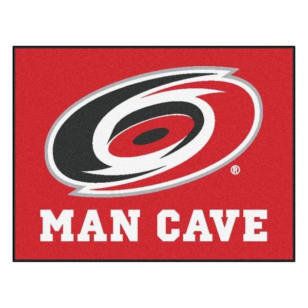 Carolina Hurricanes Red Man Cave 3 ft. x 4 ft. Area Rug