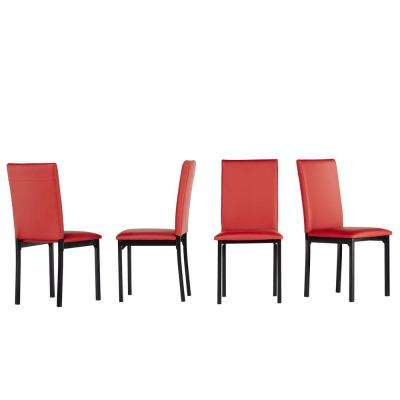 Bedford Red Faux Leather Dining Chair (Set of 2)