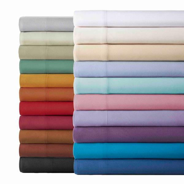 Micro Flannel 4-Piece Wedgewood Solid King Sheet Set