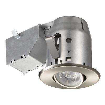 LED Directional 3 in. Nickel Recessed Kit  sc 1 st  Home Depot & 3 in. - Recessed Lighting - Lighting - The Home Depot