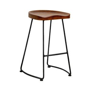 Swell Mod Made Potter Wood Counter Stool With Rustic Metal Legs 26 Squirreltailoven Fun Painted Chair Ideas Images Squirreltailovenorg