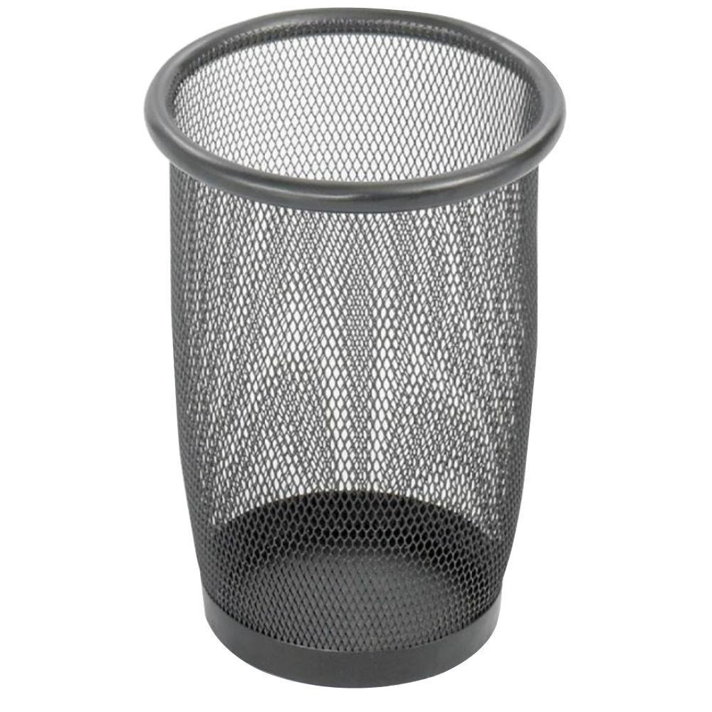 3 Qt. Black Round Mesh Trash Can
