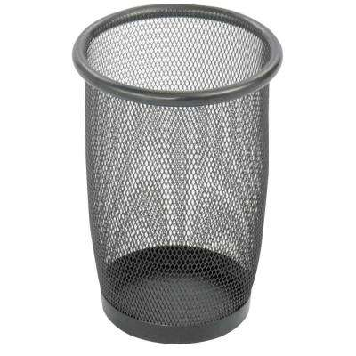 3 Qt. Black Round Mesh Trash Can