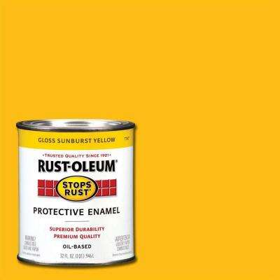 1 qt. Gloss Sunburst Yellow Protective Enamel Paint (Case of 2)