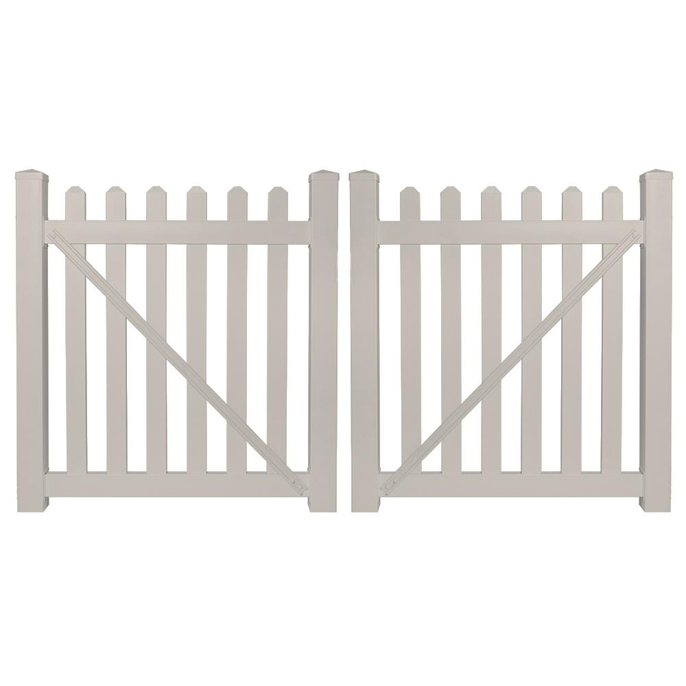 Everbilt Anti Sag Gate Kit 15469 The Home Depot Addition Cantilever Sliding On Electric Fence Gates With Diagram Chelsea 8 Ft W X 4 H Tan Vinyl Picket