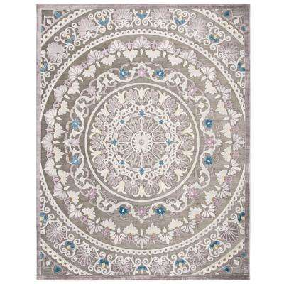 Paradise Gray/Light Gray 8 ft. x 10 ft. Area Rug