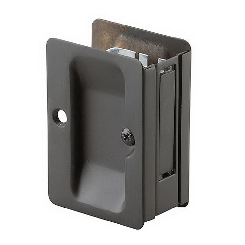 Richelieu Hardware 3 7 32 In Black Pocket Door Pull With Page Lock 1700fbpsbc The Home Depot