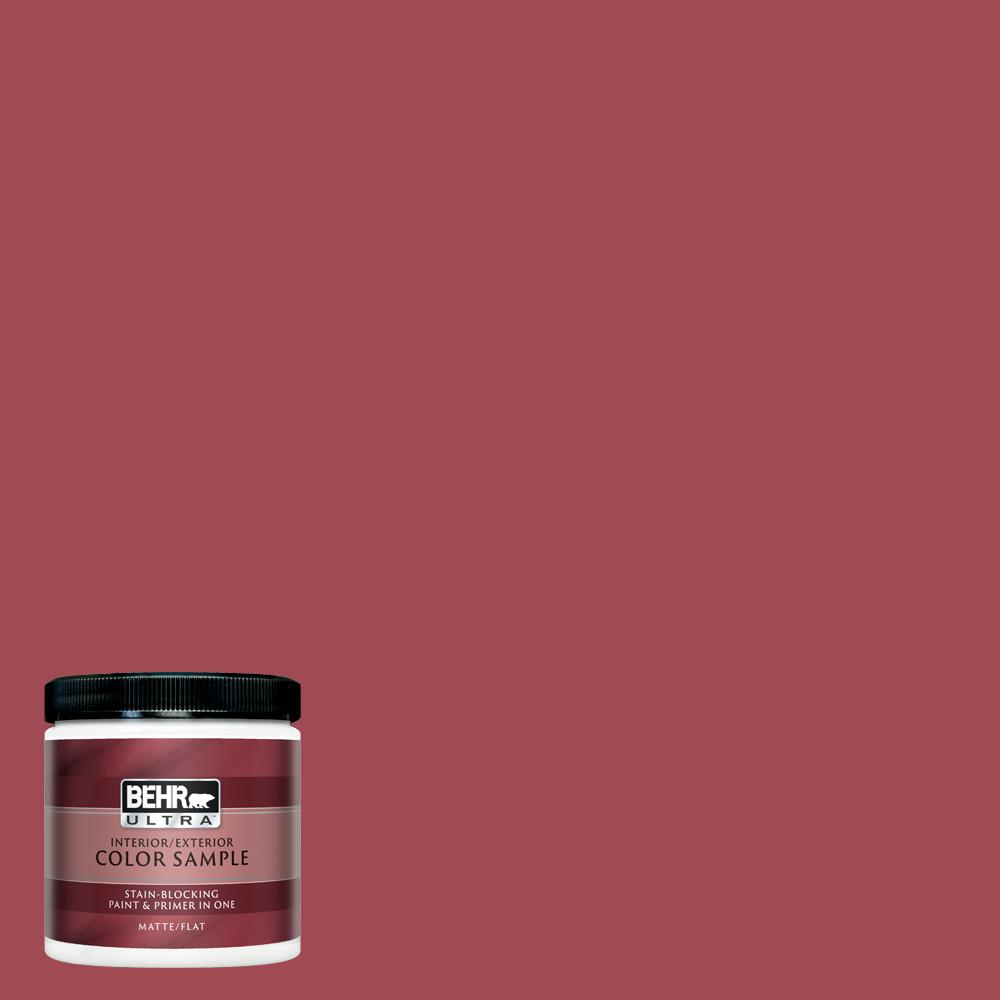 Behr Ultra 8 Oz Ppu1 07 Powder Room Matte Interior Exterior Paint And Primer In One Sample