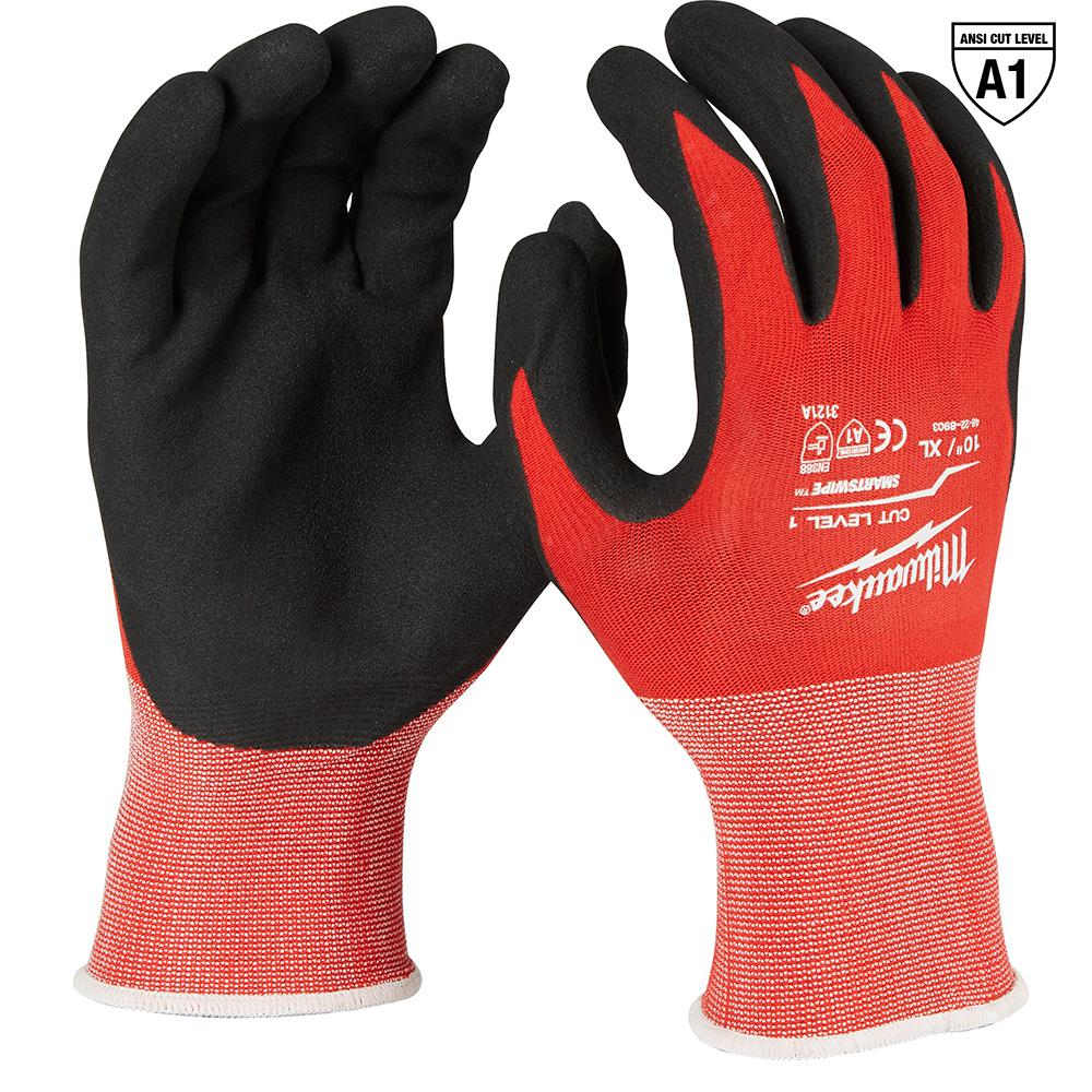 Milwaukee X-Large Red Nitrile Dipped Work Gloves