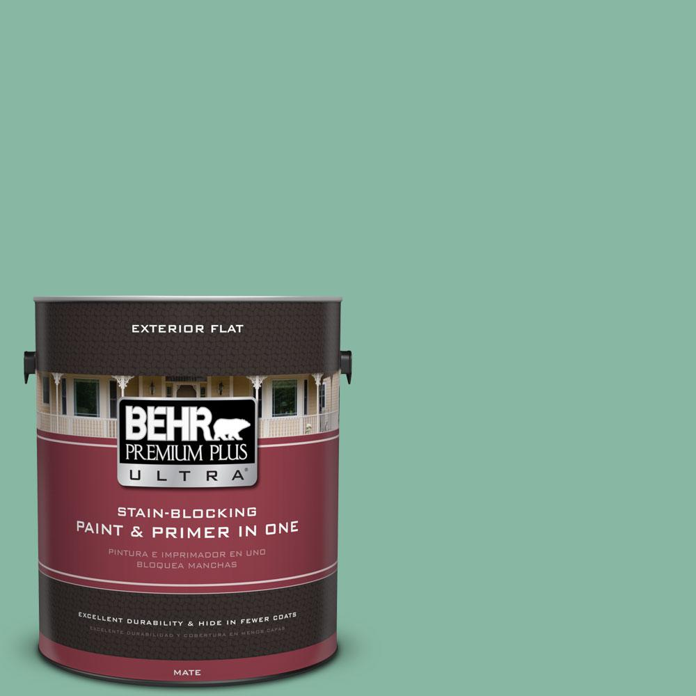 BEHR Premium Plus Ultra 1-gal. #480D-4 Indian Ocean Flat Exterior Paint