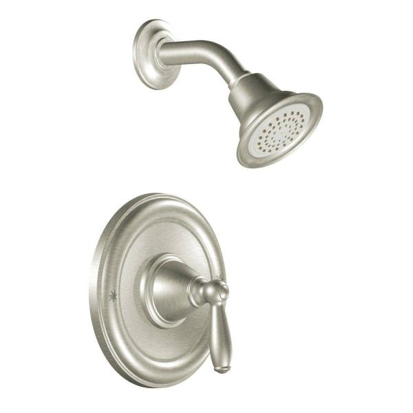 Brantford Posi-Temp Single-Handle 1-Spray Shower Faucet Trim Kit in Brushed Nickel (Valve Not Included)