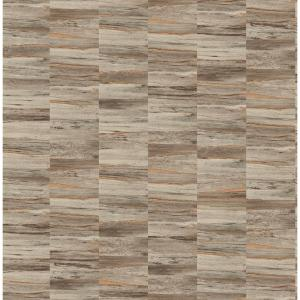 Hugo Brown Faux Wood Wallpaper