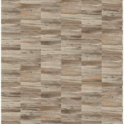 Hugo Brown Faux Wood Wallpaper Sample
