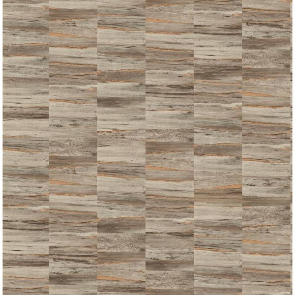 Fine Decor Hugo Brown Faux Wood Wallpaper Sample