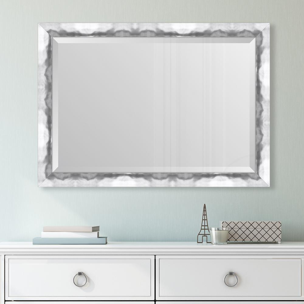 Melissa van hise 30 in x 42 in framed wide contemporary for Wide framed mirror