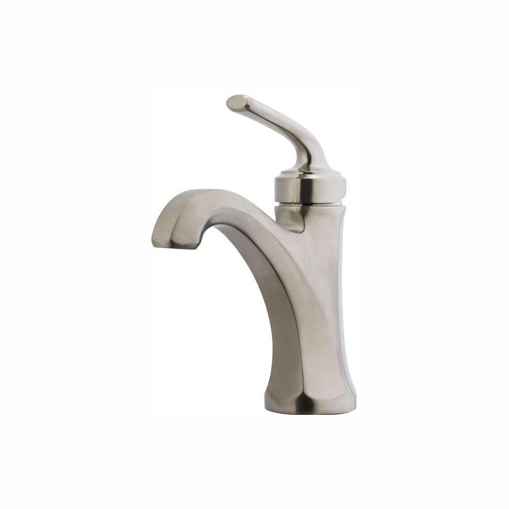 Pfister Arterra 4 in. Centerset Single-Handle Bathroom Faucet in Brushed Nickel Pfister Arterra 4 in. Centerset Single-Handle Bathroom Faucet in Brushed Nickel