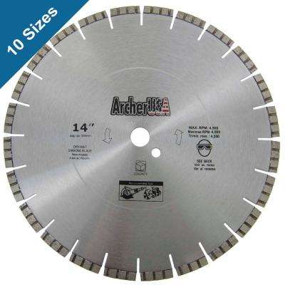 14 in. Diamond Blade for Concrete Cutting