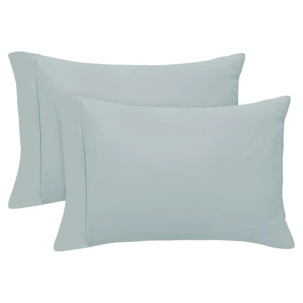 King Slate Blue 400-Thread Count Cotton Rich Pillowcase Set YMS008270