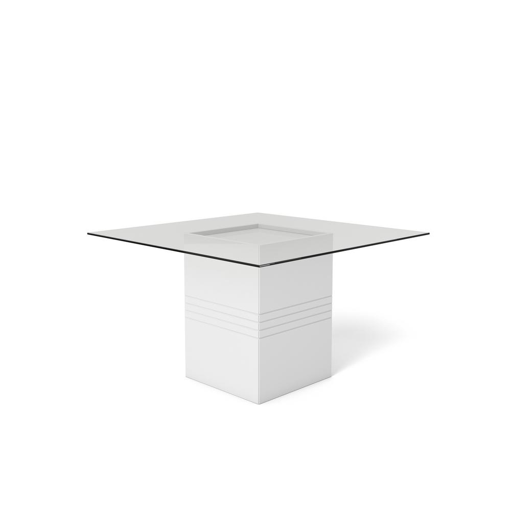 This Review Is From Perry 1 8 55 12 In White Gloss Sleek Tempered Glass Table Top