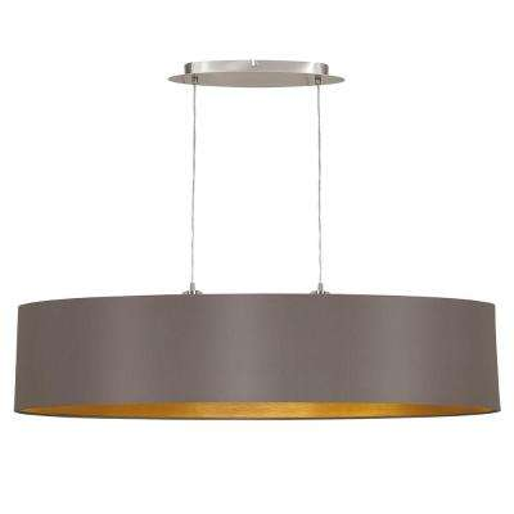 Maserlo 2-Light Cappucino and Satin Nickel Pendant Light