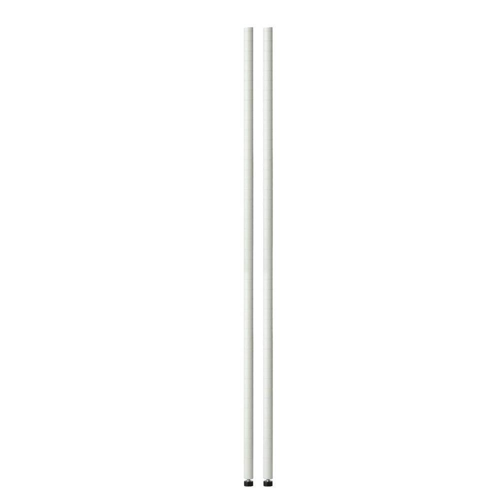Honey-Can-Do 30 in. Urban White Shelving Poles (2-Pack)
