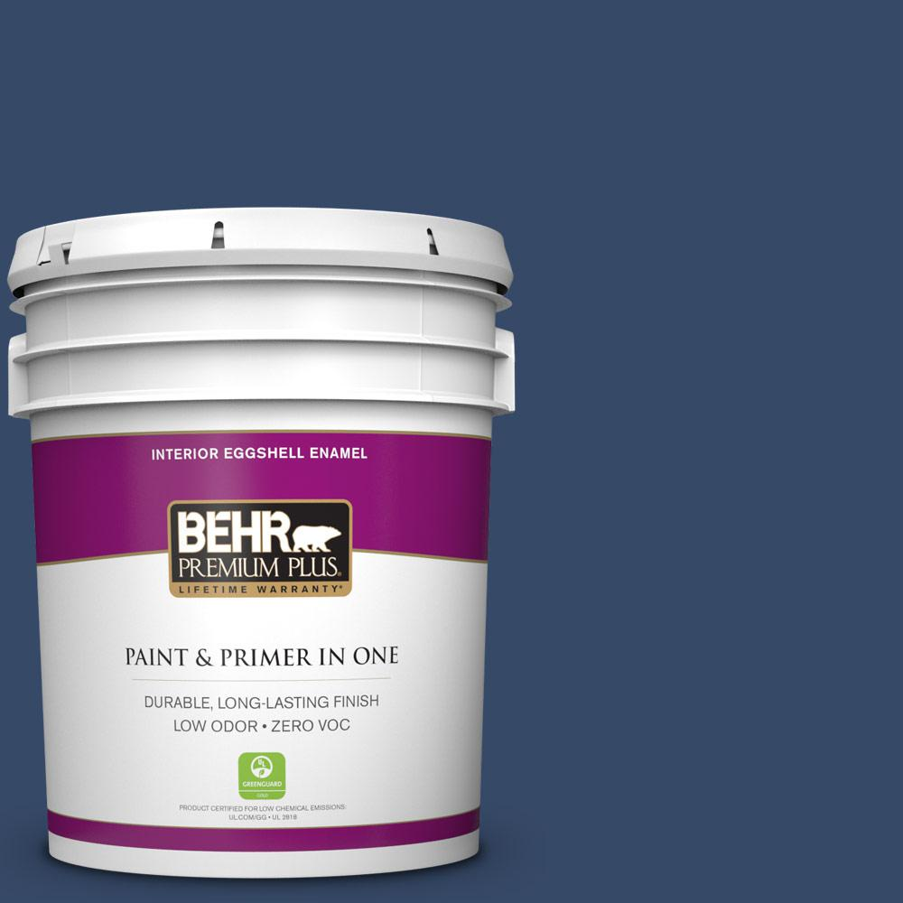 5 gal. #580D-7 Deep Royal Zero VOC Eggshell Enamel Interior Paint