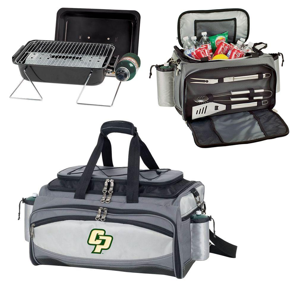 Picnic Time Cal Poly Mustangs - Vulcan Portable Propane Grill and Cooler Tote with Embroidered Logo