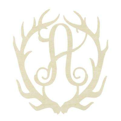 19.5 in. Unfinished Antler Monogram (A)