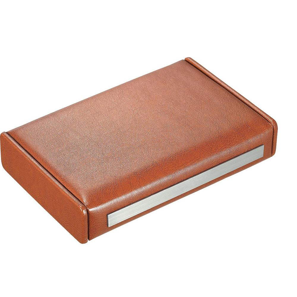 Visol Russell Brown Leather Travel Cigar Humidor Are you traveling and want to bring along a few cigars to enjoy, The Russell from Visol is the perfect choice to carry about 7 cigars depending on their ring gauge and length. Its smooth leather body will feel amazing in your hands and is lined with brown felt on the bottom. A long strip of stainless steel on the opening edge allows plenty of room for an engraving to be added to this humidor. The interior is lined with cedar and comes with humidifier to keep your cigars fresh and ready to smoke.