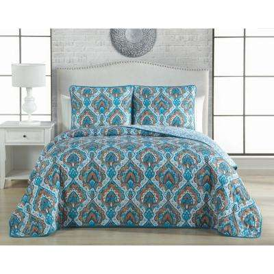 Everly 3-Piece Teal King Quilt Set