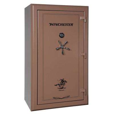 Silverado 51 cu. ft. 48-Gun 2 Hour Fire Resistant U.L. Mechanical Lock Gun Safe, Saddle Brown
