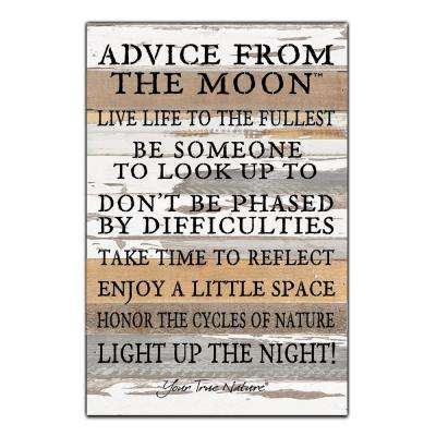 """Advice From The Moon"" Reclaimed Wood Decorative Sign"