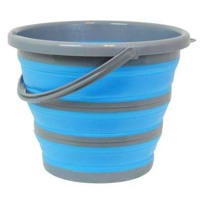 2.65 Gal. Blue Collapsible Bucket Deluxe