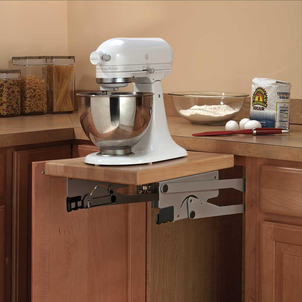 24 in. H x 3 in. W x 13 in. D Steel Appliance Lift Cabinet Organizer