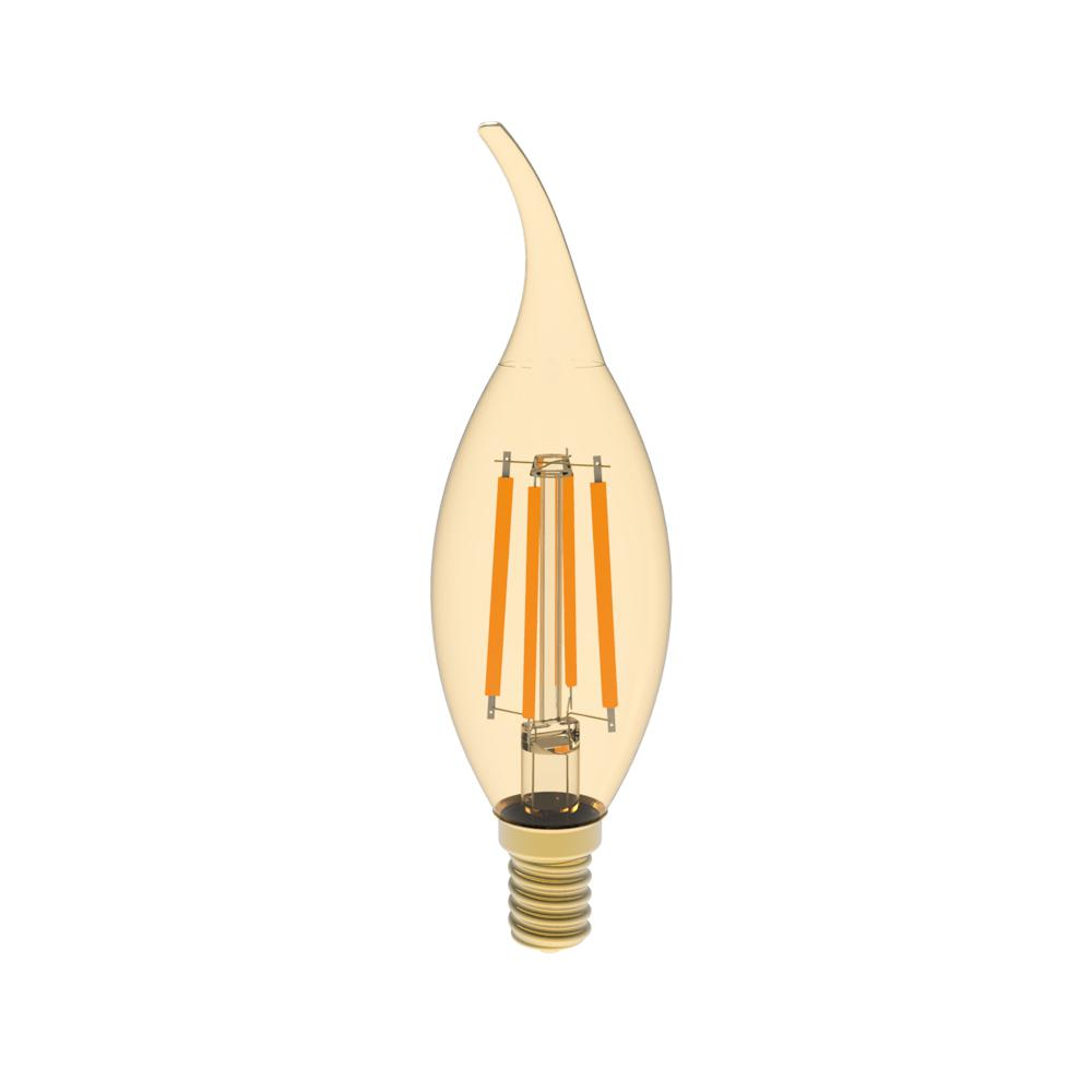 40W Equivalent Warm White (2400K) BA10 Dimmable Amber LED Light Bulb