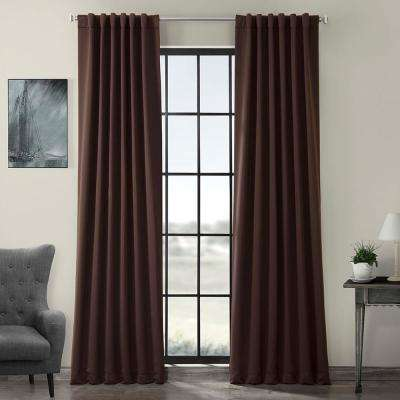 Semi-Opaque Java Brown Blackout Curtain - 50 in. W x 108 in. L (Panel)
