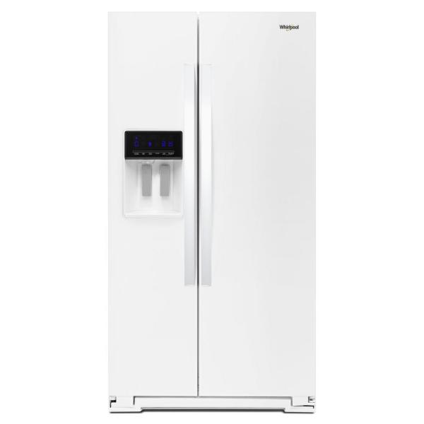 28 cu. ft. Side by Side Refrigerator in White