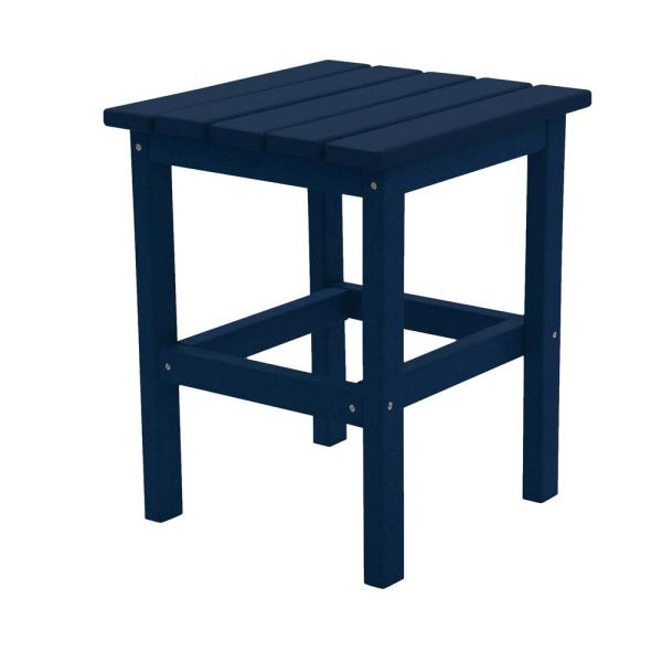 Icon Navy Square Plastic Outdoor Side Table