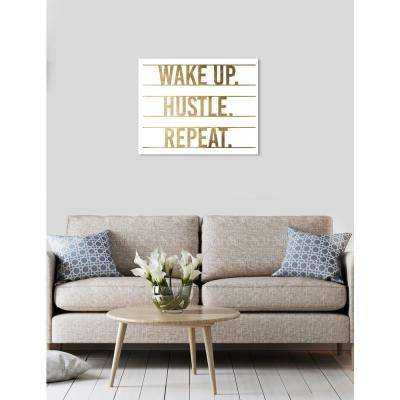 """Hustle and Repeat"" by Oliver Gal Canvas Wall Art"