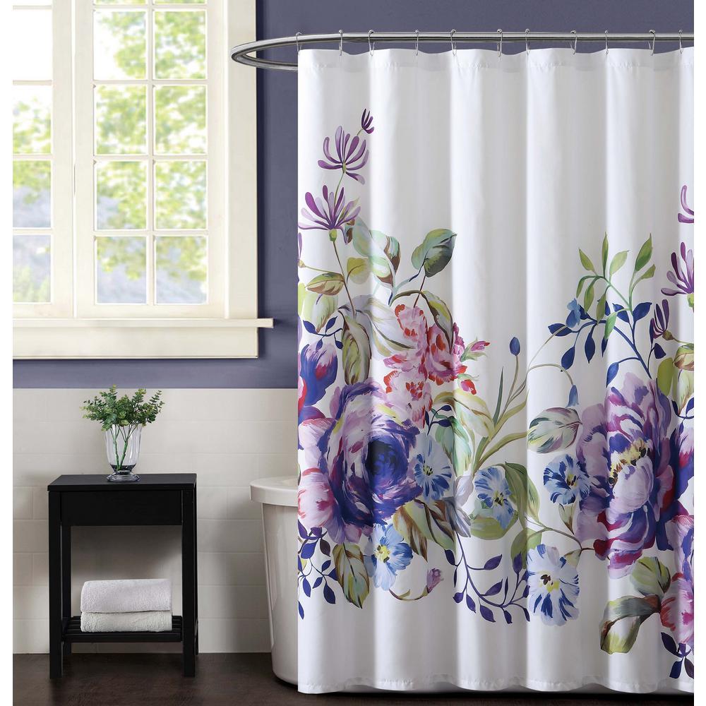 Garden Bloom 72 in. Multiple Shower Curtain