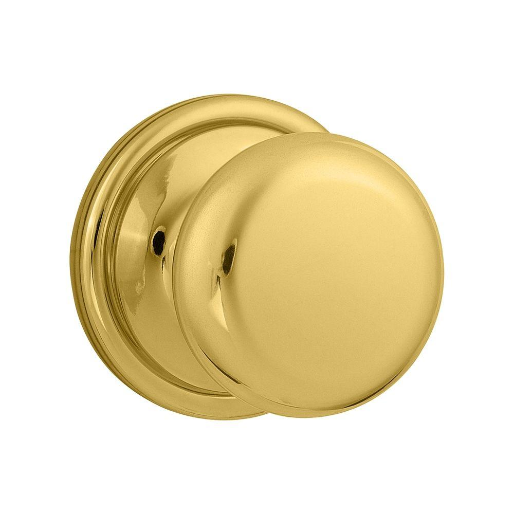 Kwikset Hancock Polished Brass Half-Dummy Knob