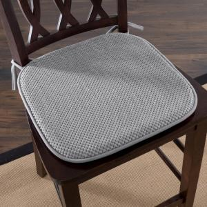 Fine 16 In X 16 In Platinum Memory Foam Chair Pad Pabps2019 Chair Design Images Pabps2019Com