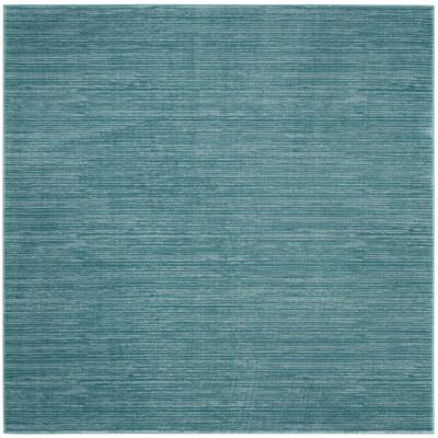 Vision Aqua 4 ft. x 4 ft. Square Area Rug