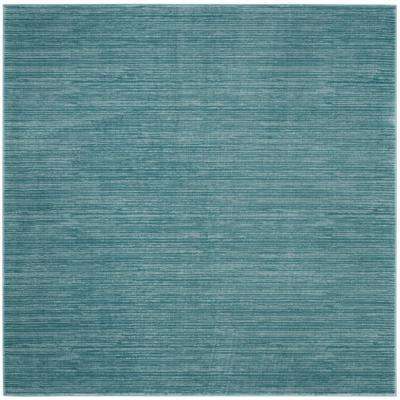 Vision Aqua 5 ft. x 5 ft. Square Area Rug