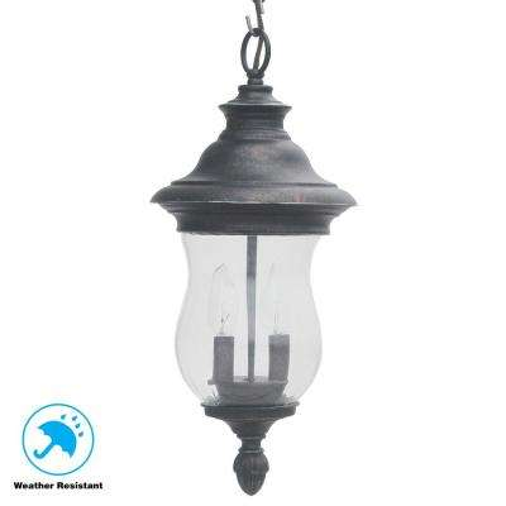 Wesleigh 2-Light Bronze Outdoor Chain Hung Lantern