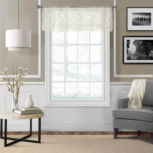 Montego 52 inch W x 15 inch L Ironwork Sheer Window Valance in Ivory by