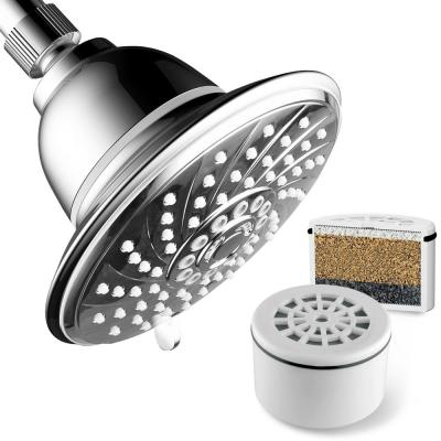 6-Spray 6 in. Single Wall Mount Fixed Rain Shower Head in Chrome