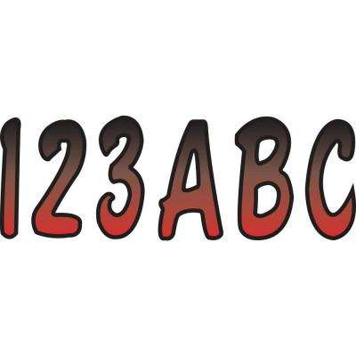 Series 200 Registration Kit, Cursive Font With Top to Bottom Color Gradations, Red/Black
