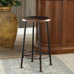 Incredible Whitman 24 In Antique Copper Decorative Bar Stool Evergreenethics Interior Chair Design Evergreenethicsorg