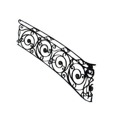 96 in. x 38 in. Finished Black Wrought Iron Baluster Railing Kit